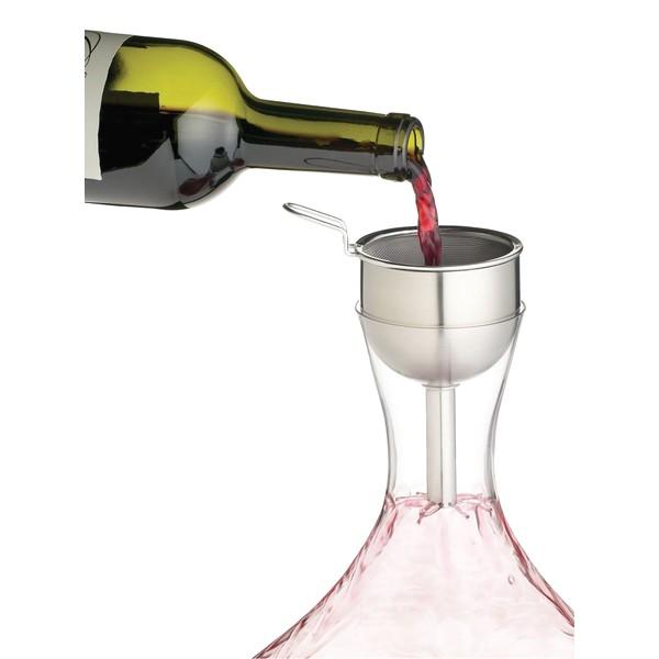 Lze použít běžný trychtýř se sítkem na dekantování vína
