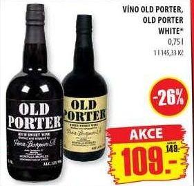 Old porter portské víno