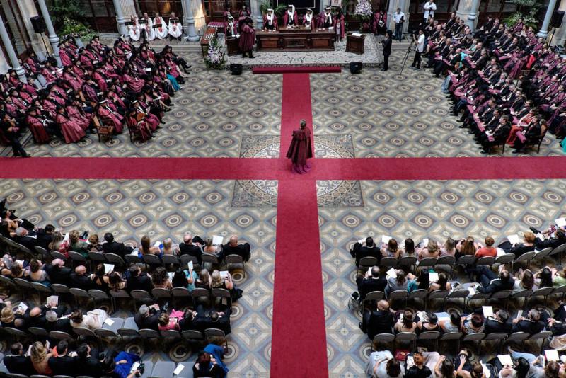 Přijímací obřad v sále Patio das Nações