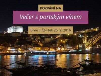 Večer s portským vínem 25. 2. 2016 v Brně