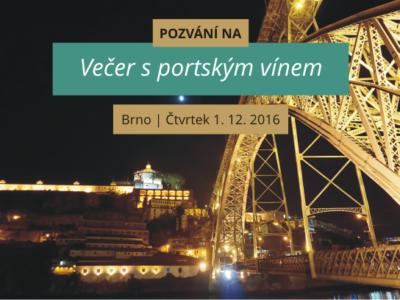 Přijďte na prosincový Večer s portským vínem v Brně