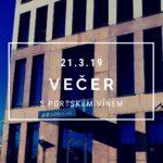 Večer s portským vínem v Brně 21. 3. 2019