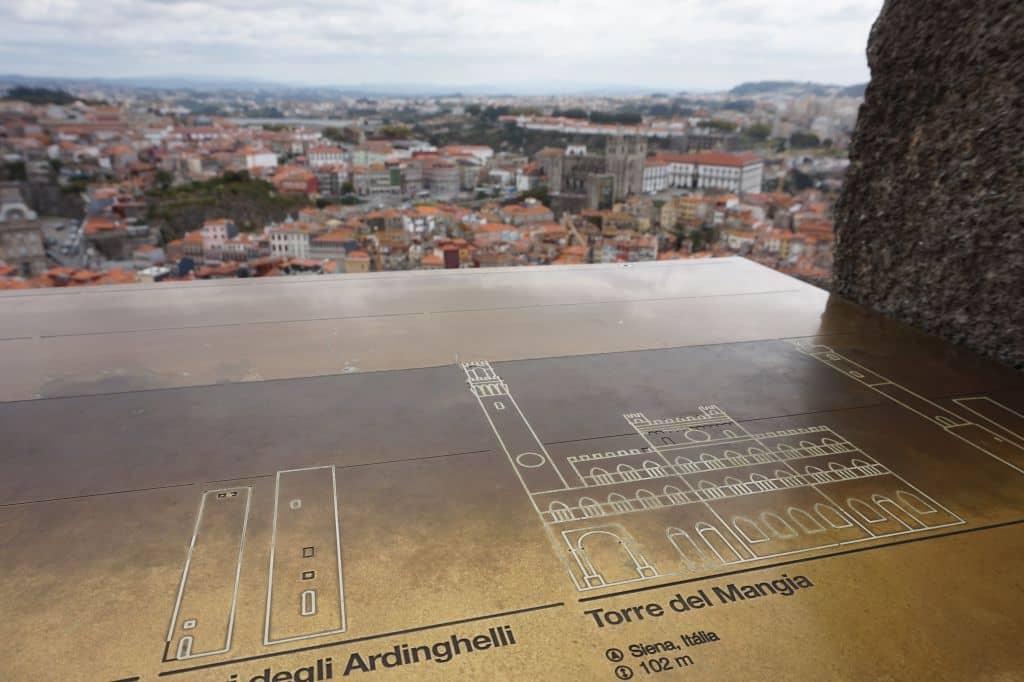 Toskánská věž Torre del Mangia je tímto směrem vzdálena něco přes 2 000 kilometrů